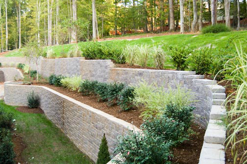 Lot 289 Meadowmont: Retaining Wall Area